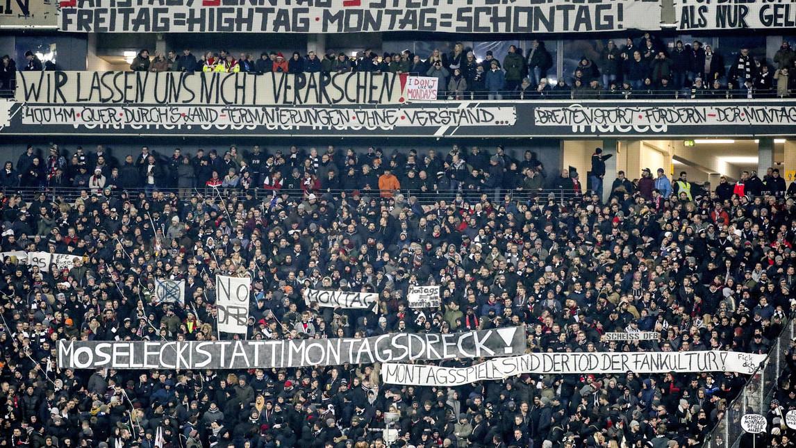 Tifosi Eintracht: no al monday night!