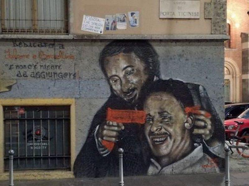 Falcone spara a Borsellino, il murales imbrattato: si indaga