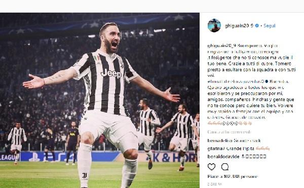 Juventus, Higuain torna in campo il 3 marzo