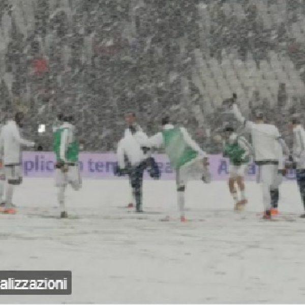 Juventus - Atalanta rinviata per neve