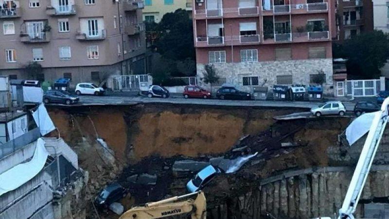 Roma, si apre una voragine in una strada
