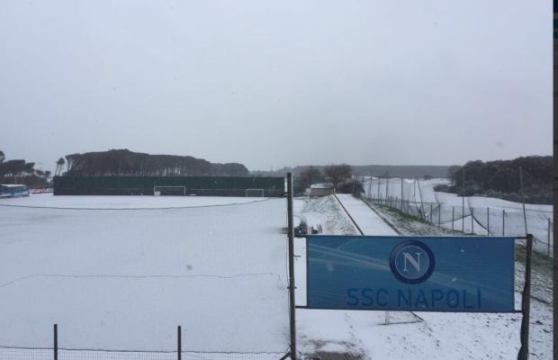La neve stoppa il Napoli, allenamento annullato