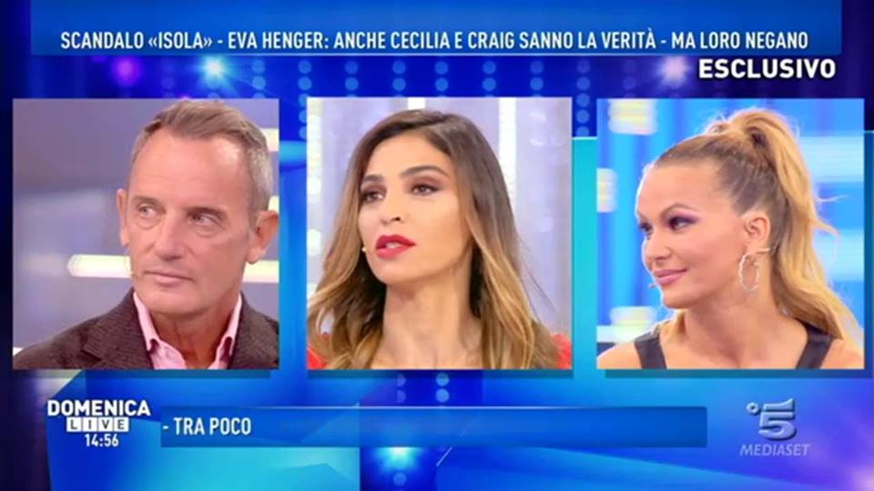 """Droga all'Isola dei Famosi, Cecilia Capriotti: """"Sapevamo che Eva avrebbe parlato in diretta"""""""