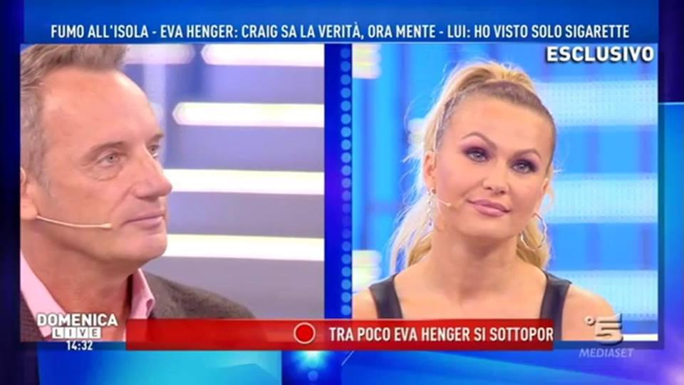 "Domenica Live, Craig Warwick smentisce Eva Henger: ""Non ho visto niente"""