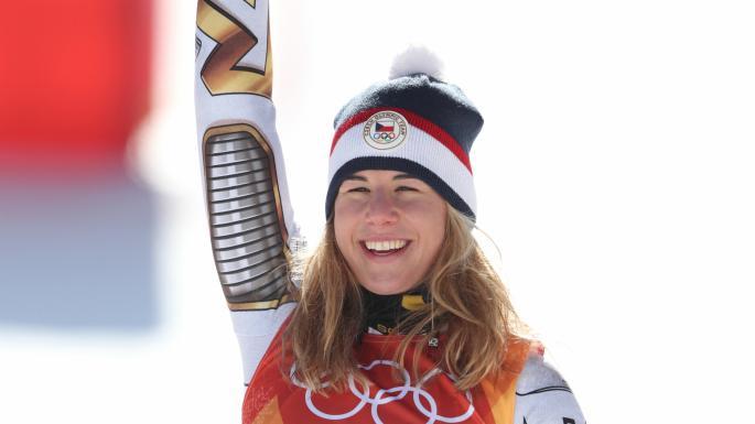 Ledecka, oro storico: dopo il Super-G vince anche nello snowboard