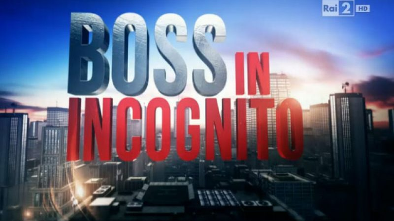 """Torna """"Boss in incognito"""" con un nuovo conduttore"""
