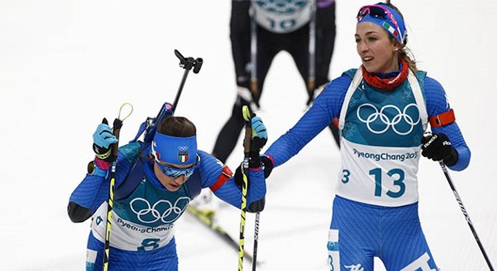 Olimpiadi, non basta Lisa Vittozzi: la staffetta di biathlon è nona