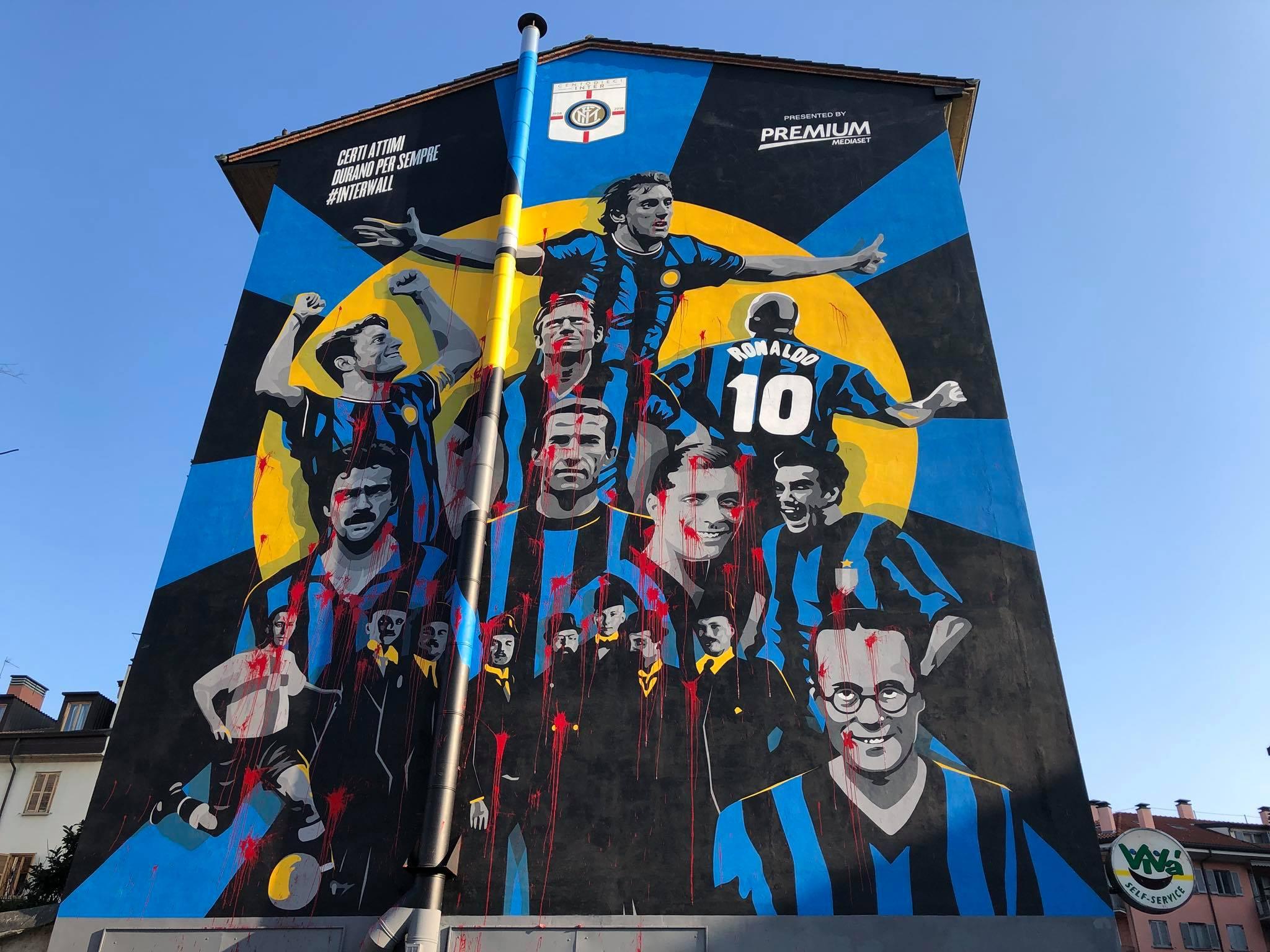 Milano, InterWall sfregiato da atti vandalici