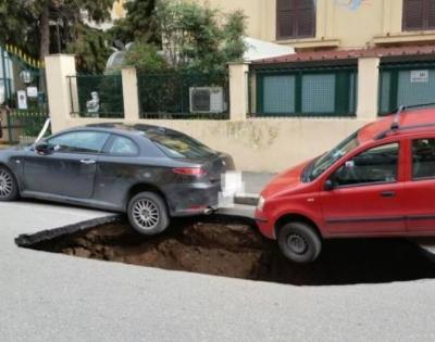 Circonvallazione Appia : si apre una nuova voragine