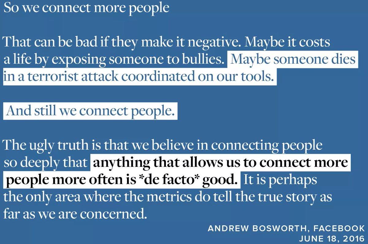 """""""Facebook può uccidere"""", ma l'imperativo resta 'connettere'"""