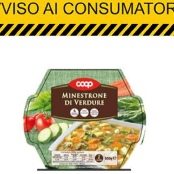 Glutine non dichiarato, lotto di minestrone ritirato dalla Coop