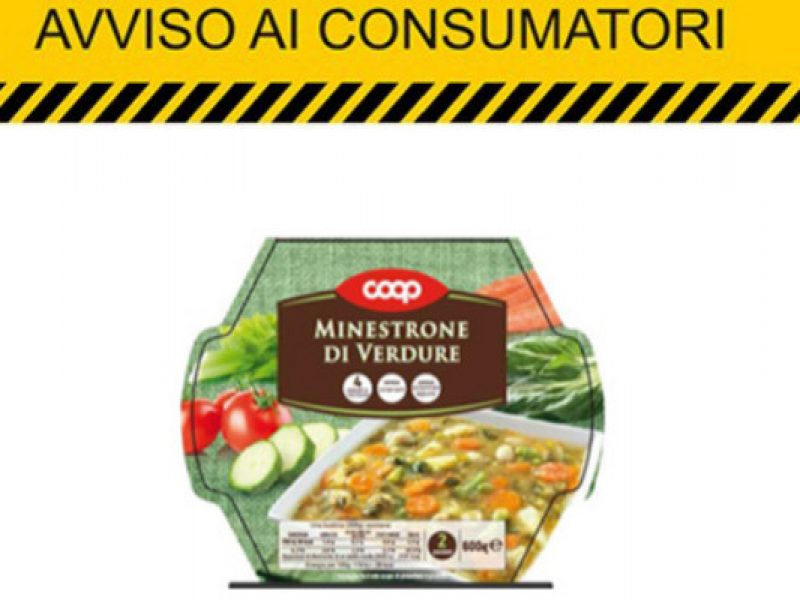 Minestrone coop, l'azienda ritira un lotto: potrebbe avere tracce di glutine