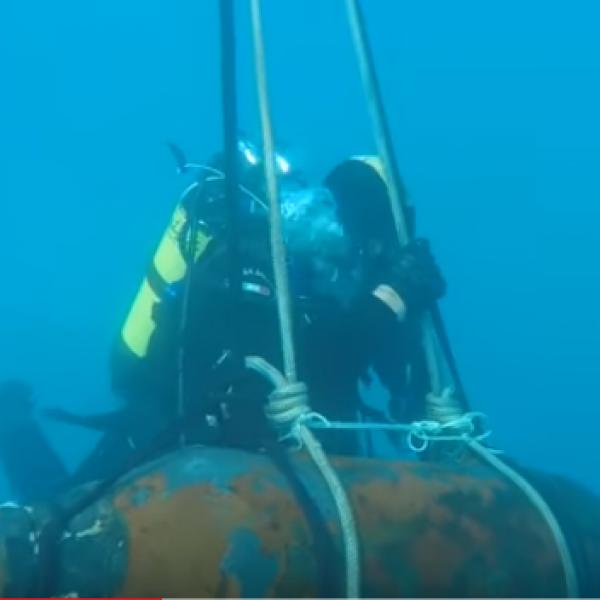 Fano, ordigno bellico fatto esplodere in fondo al mare