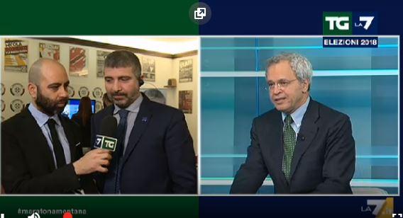 """Elezioni 2018, Mentana contro Di Stefano: """"Sa con chi sta parlando?"""""""