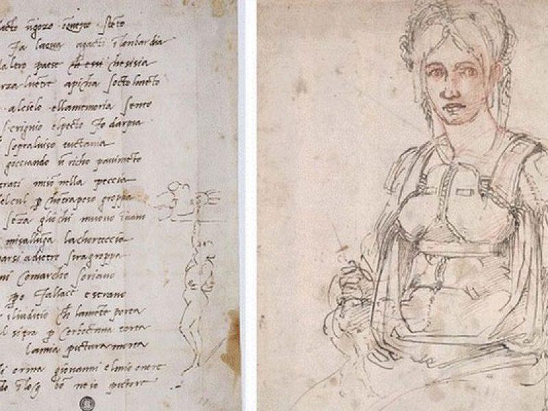 Scoperto un autoritratto di Michelangelo