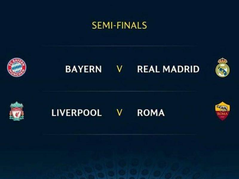 Roma, Real Madrid, Bayern Monaco, Liverpool,