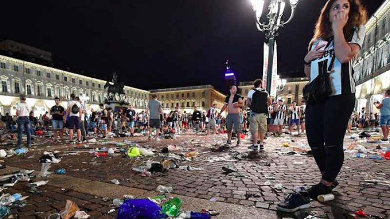 Piazza San Carlo, per il gip cade l'accusa di omicidio preterintenzionale