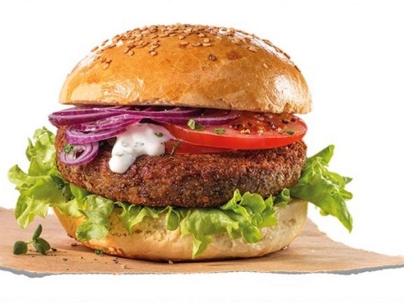 insekten burger, Germania, Aquisgrana, hamburger di vermi in Germania, hamburger di insetti al supermercato, panino con hamburer di larve, cibo, stranezze