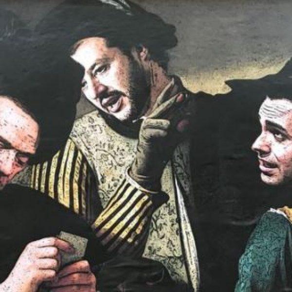 A Roma l'opera di street art che ritrae Di Maio, Salvini e il Cavaliere