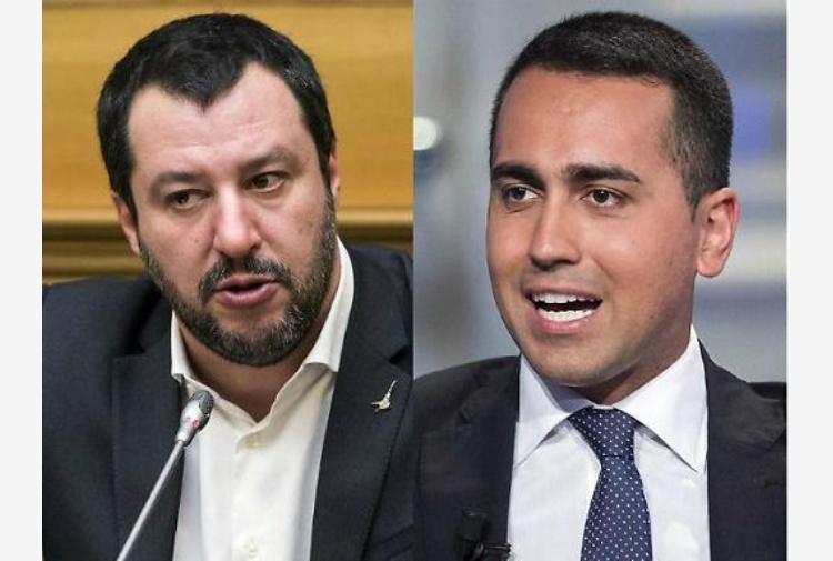 """Salvini e Di Maio litigano sul pil, il leader leghista """"Si deve sforare il 3%"""""""