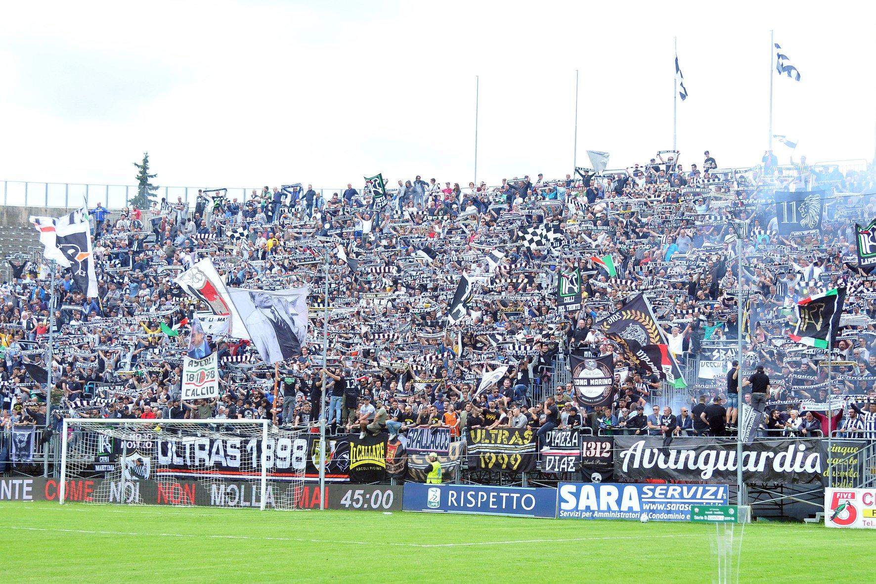 Serie B: Ascoli-Entella termina in pareggio, piceni salvi