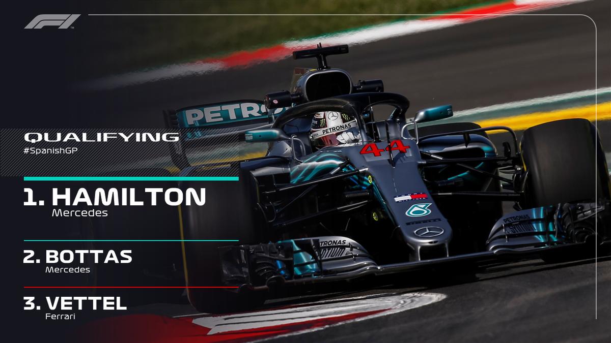 F1, Hamilton-fulmine vince la pole al GP di Spagna