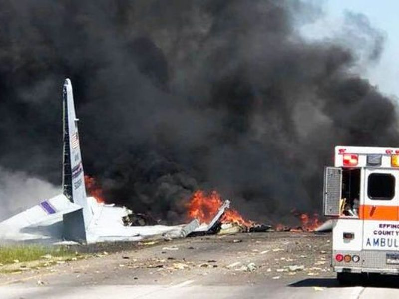 Usa, aereo militare precipita in Georgia: 9 morti