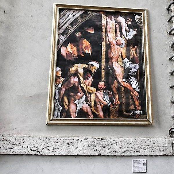 Street art sul Pd, Renzi porta in salvo Berlusconi