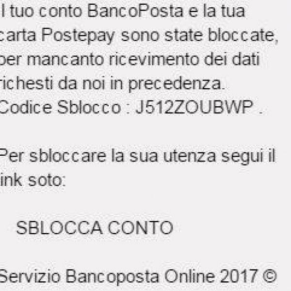 BancoPosta e Postepay, allarme truffa online