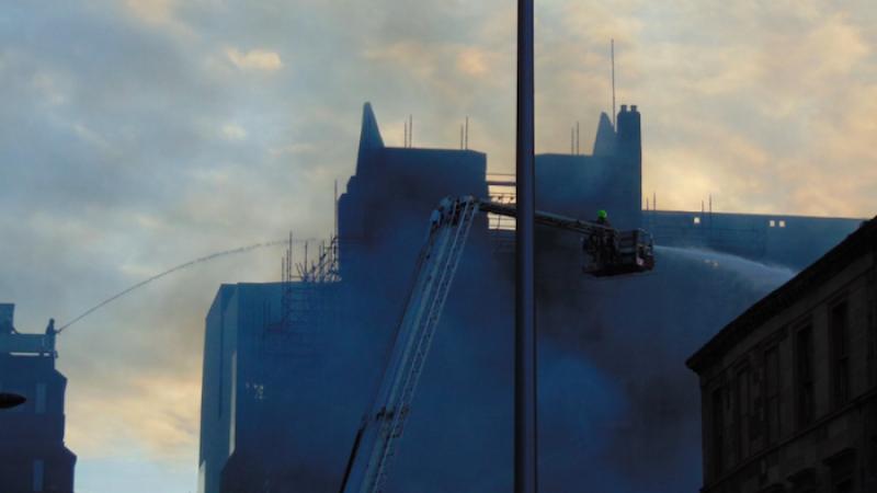 Glasgow, incendio nella prima scuola d'arte al mondo