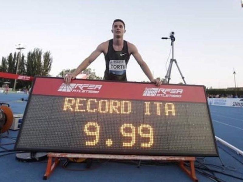 9″99 Tortu, Filippo Tortu, recor 100 metri Tortu, record italiano Tortu, record Tortu, Tortu nella storia