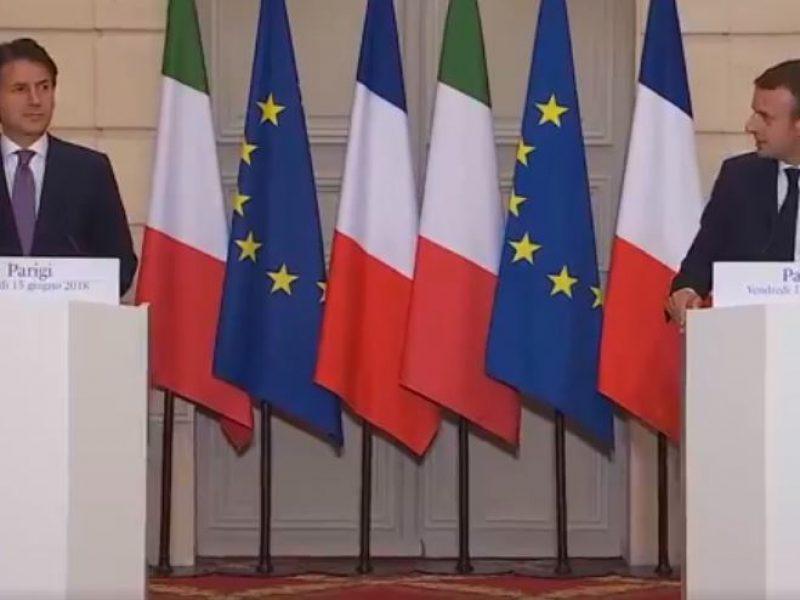Migranti, Conte incontra Macron