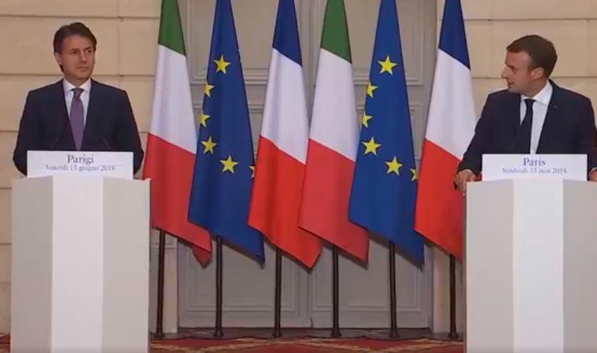 """Conte a Parigi da Macron: """"Convergenze su diversi temi"""""""