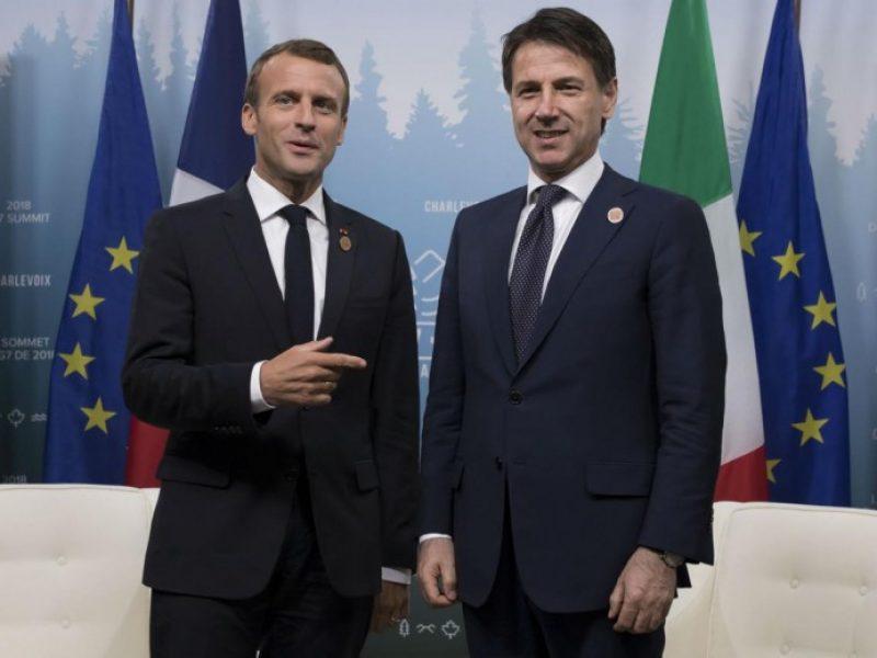 scontro italia francia caso chiuso, divergenze appianate tra italia e francia sui migranti, telefonata conte macron divergenze appianate, disgelo italia francia sul caso migranti aquarius