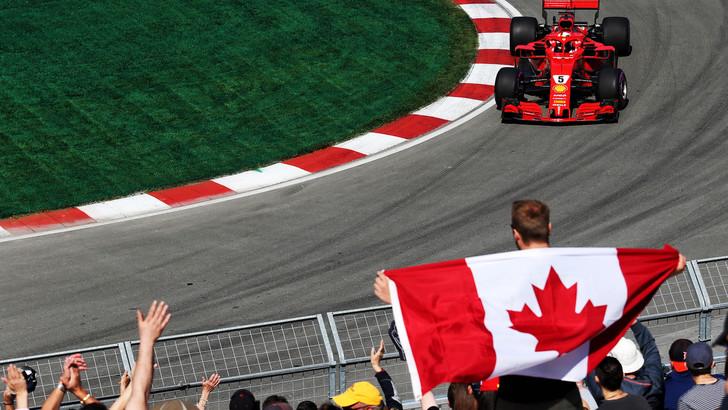Formula 1, assolo Vettel a Montréal. Sul podio Bottas e Verstappen