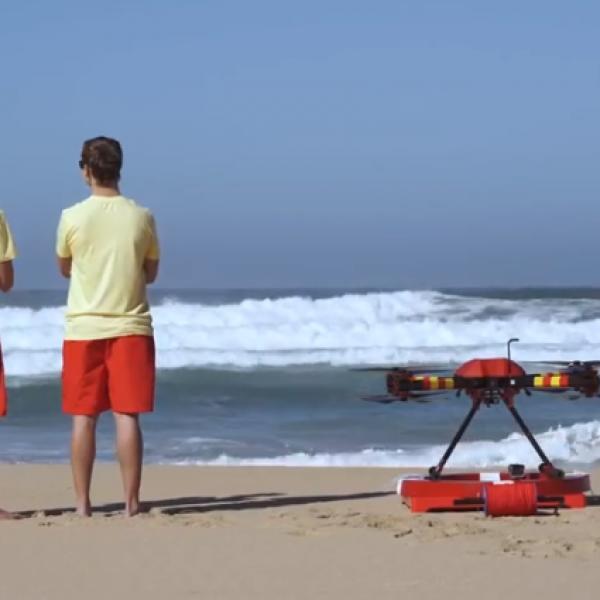 Drone-bagnino, ecco l'innovazione in spiaggia