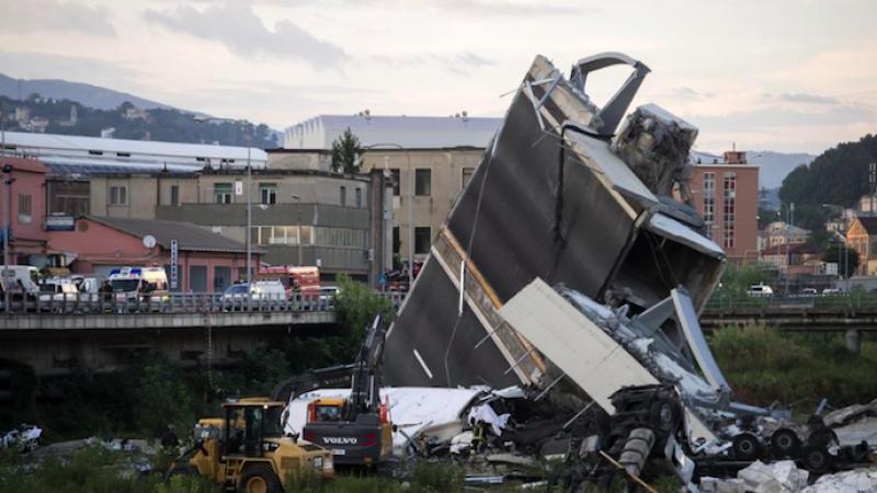 """Crollo Ponte Morandi, Bucci: """"Demolizione dal 15 dicembre"""""""