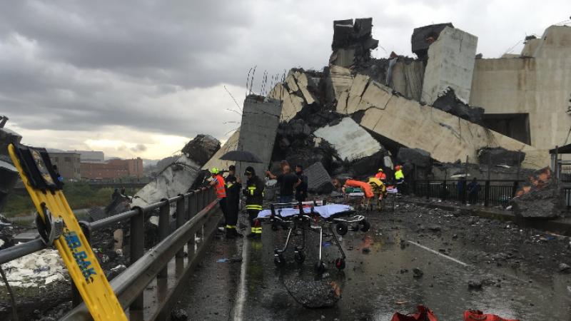 Genova, crolla un ponte sull'autostrada A10: almeno 35 morti