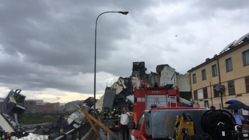 Crollo del ponte a Genova, le immagini della tragedia