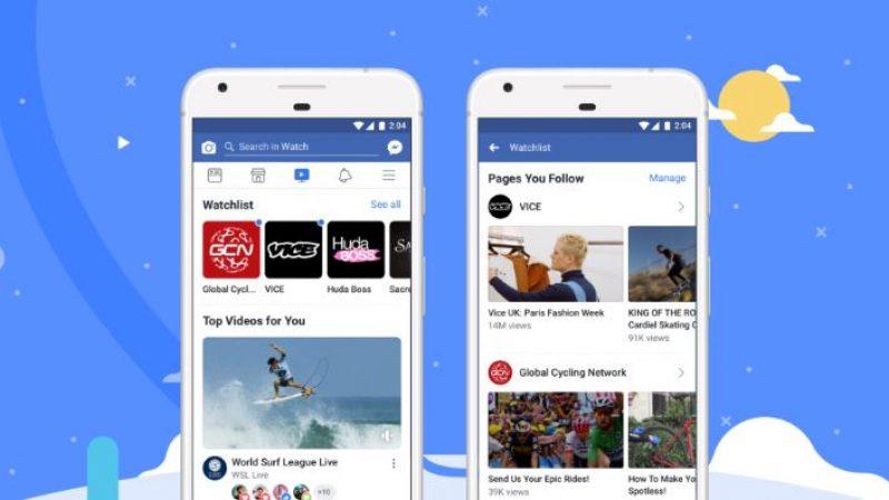 Watch, arriva in Italia la tv di Facebook
