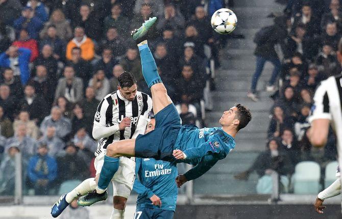 UEFA, la rovesciata di Ronaldo con la Juve è il più bel goal della stagione