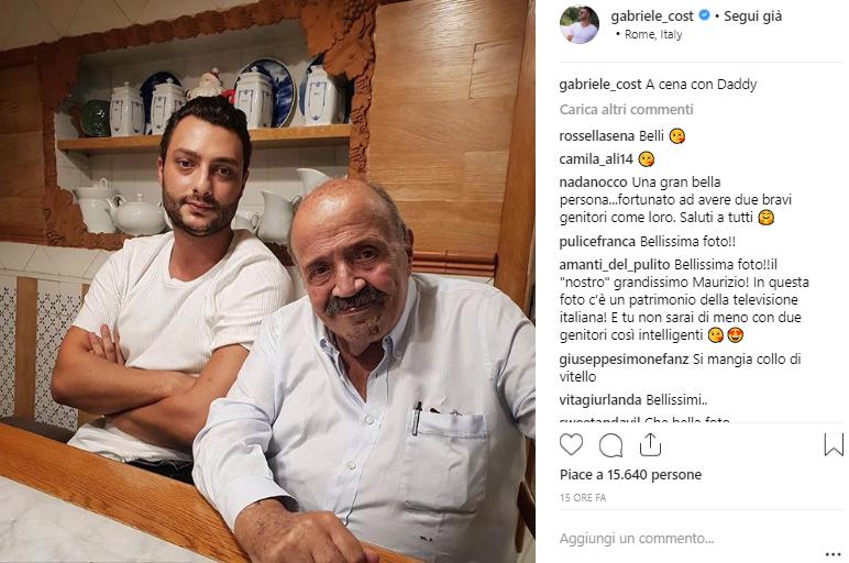 Gabriele Costanzo esce allo scoperto, ecco lo scatto col papà
