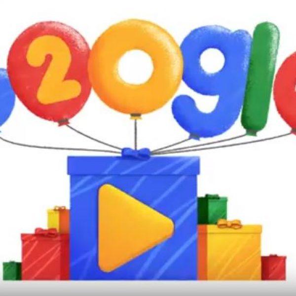 Google compie 20 anni e festeggia con un doodle