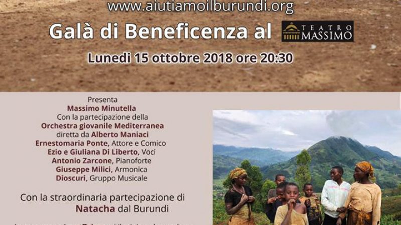 Burundi, a Palermo un Galà di Beneficenza