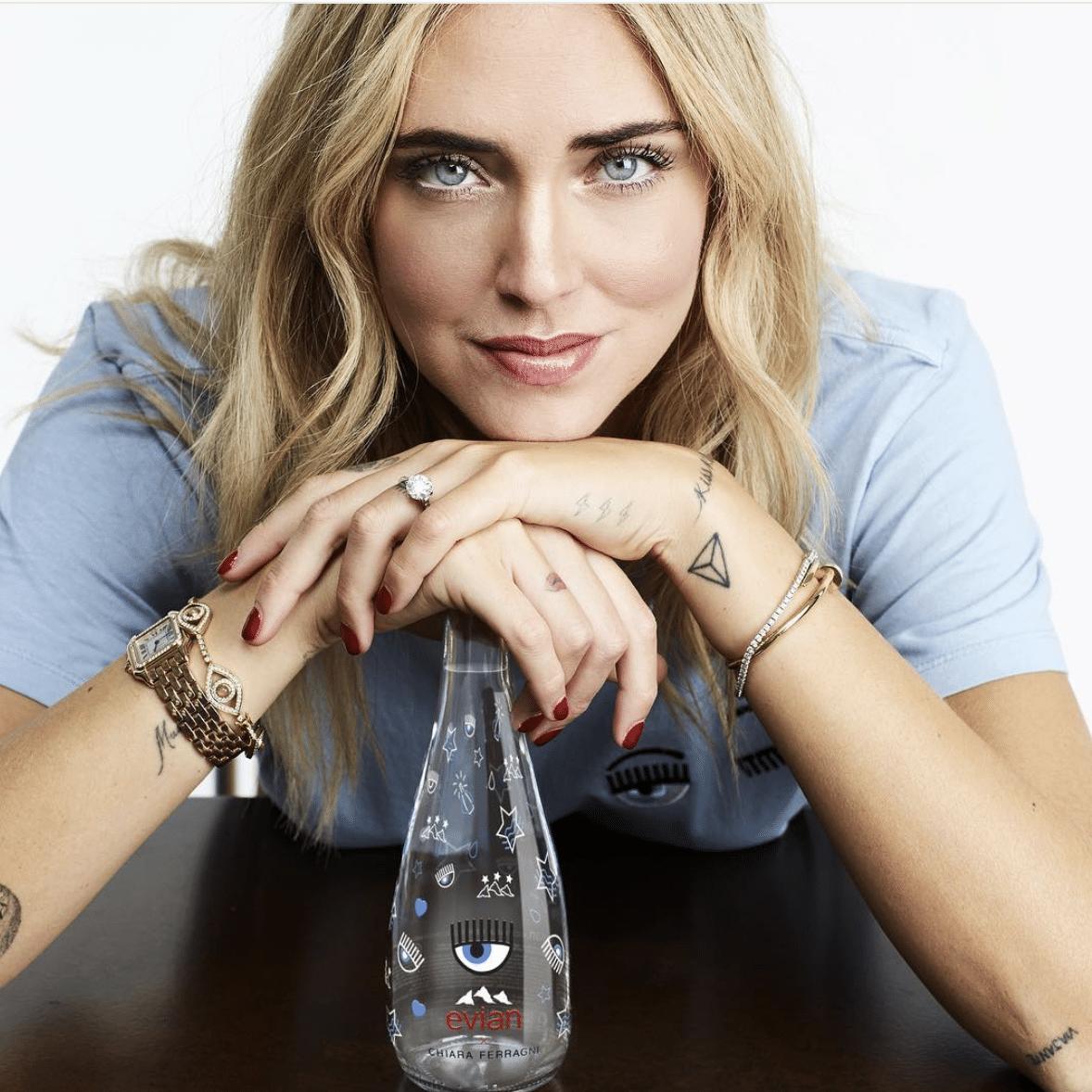 Chiara Ferragni e la polemica dell'acqua Evian: risponde Fedez