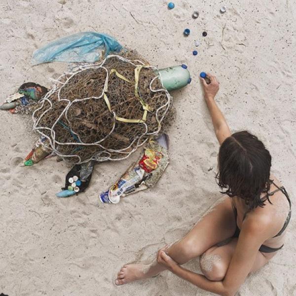 Opere d'arte dai rifiuti: l'idea di Dominique