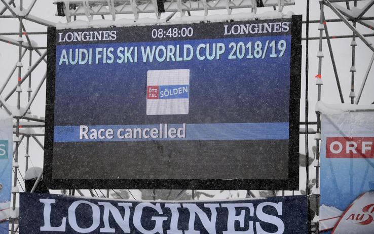 Coppa del Mondo, rinviato il gigante maschile di Soelden