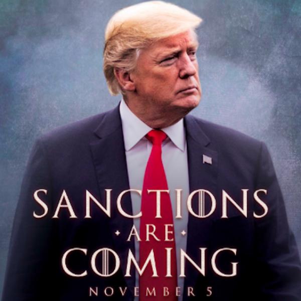 Trump all'Iran come in 'Trono di Spade':