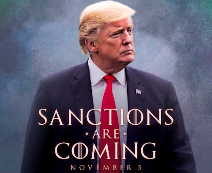 """Trump all'Iran come in 'Trono di Spade': """"Le sanzioni stanno arrivando"""""""