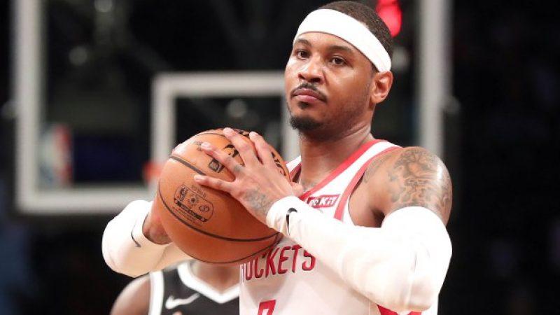 NBA, gli Houston Rockets tagliano Carmelo Anthony